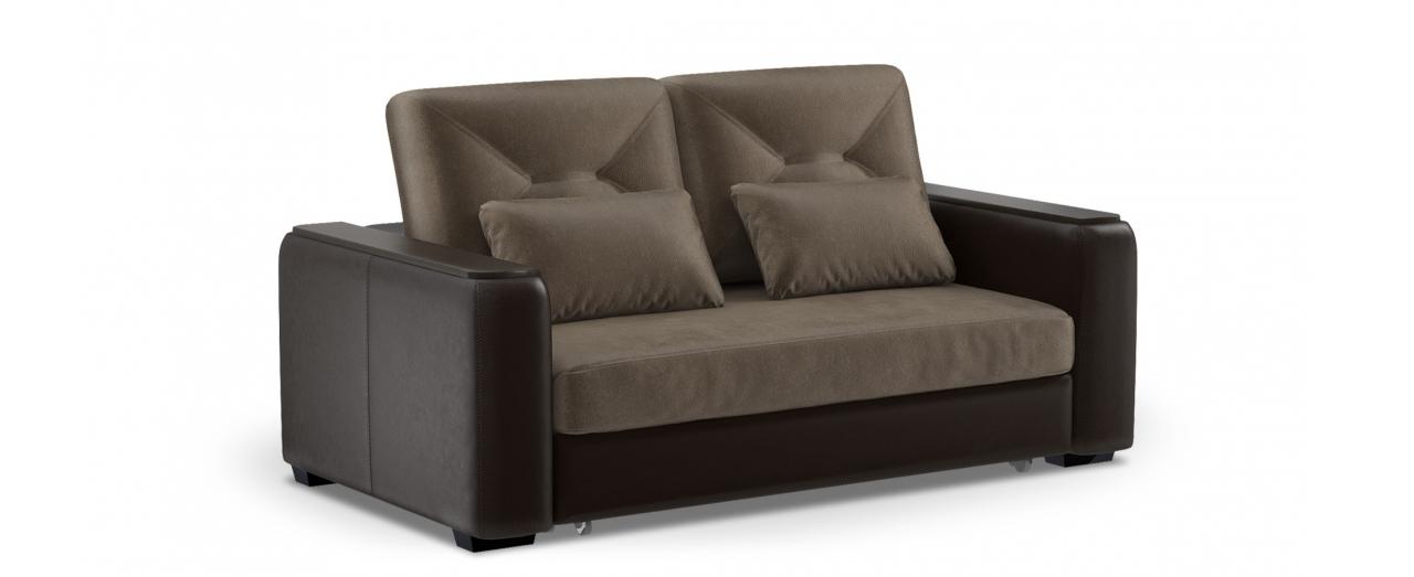 Диван прямой высоковыкатной Брюссель 082Гостевой вариант и полноценное спальное место. Размеры 184х110х93 см. Купить тёмно-коричневый диван высоковыкатной в интернет-магазине MOON TRADE.<br>