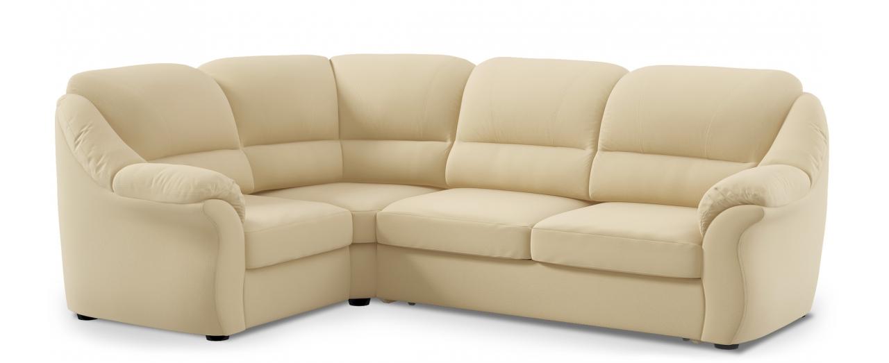 Диван угловой высоковыкатной Бостон 017Гостевой вариант и полноценное спальное место. Размеры 273х190х99 см. Купить светло-бежевый диван высоковыкатной с левым углом в интернет-магазине MOON TRADE.<br>