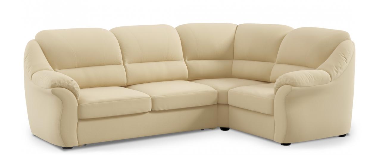 Диван угловой высоковыкатной Бостон 017Гостевой вариант и полноценное спальное место. Размеры 273х190х99 см. Купить светло-бежевый диван высоковыкатной с правым углом в интернет-магазине MOON TRADE.<br>