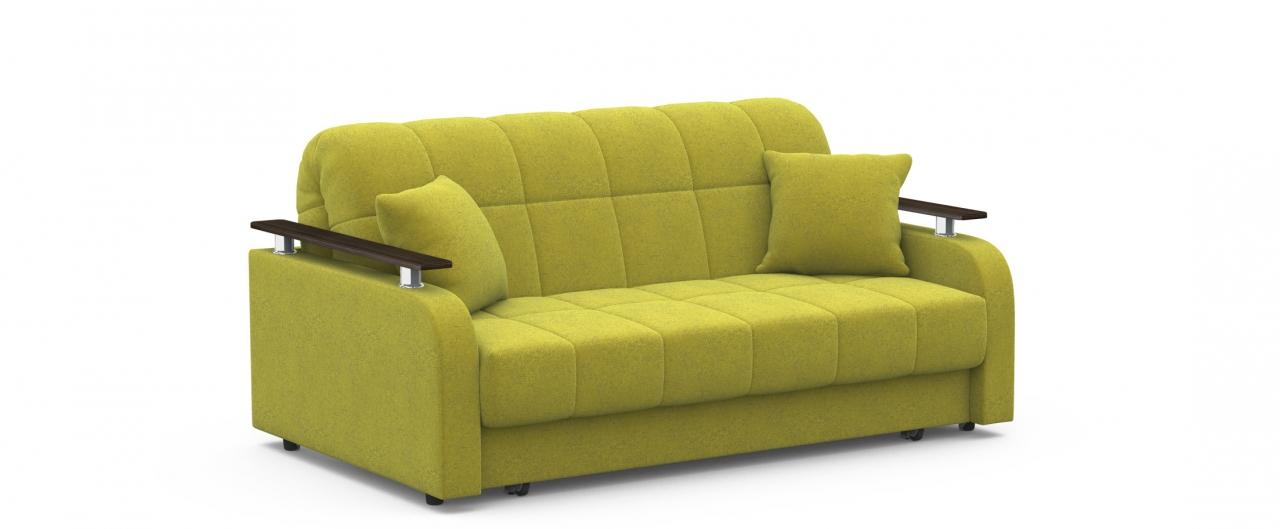 Диван прямой аккордеон Карина 044Гостевой вариант и полноценное спальное место. Размеры 170х104х88 см. Купить желтый диван аккордеон в интернет-магазине MOON TRADE.<br>