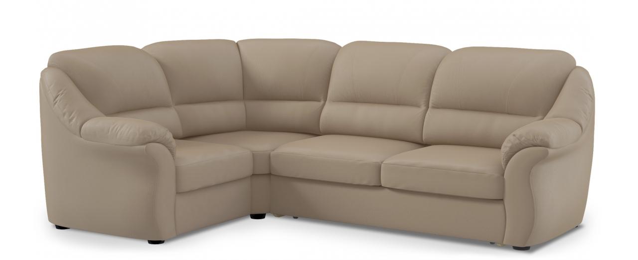 Диван угловой высоковыкатной Бостон 017Гостевой вариант и полноценное спальное место. Размеры 273х190х99 см. Купить тёмно-бежевый диван высоковыкатной с левым углом в интернет-магазине MOON TRADE.<br>