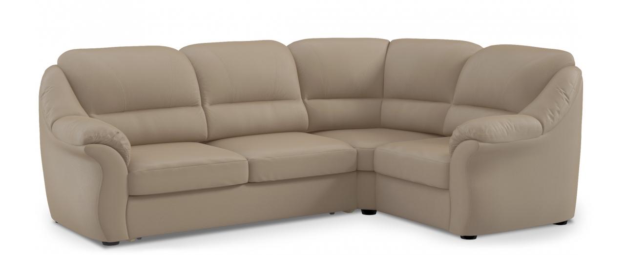 Диван угловой высоковыкатной Бостон 017Гостевой вариант и полноценное спальное место. Размеры 273х190х99 см. Купить тёмно-бежевый диван высоковыкатной с правым углом в интернет-магазине MOON TRADE.<br>
