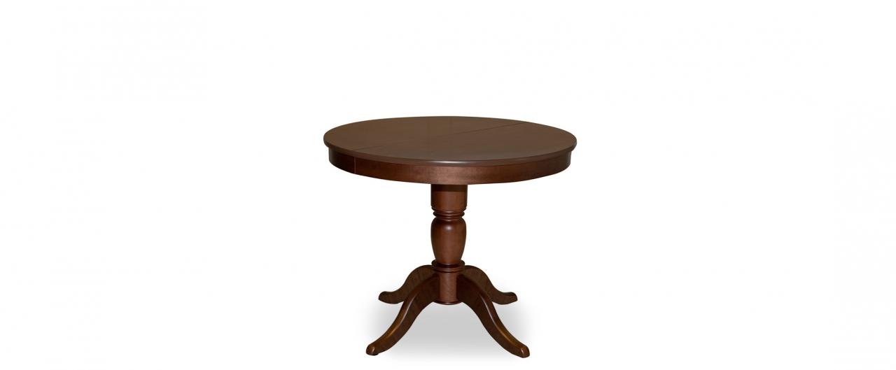 Стол Фламинго 1 Американский орех Модель 370Ножки стола из массива дерева, столешница из шпона МДФ. Не образует трещин, идеально сохраняет компактную круглую форму. Гарантия 18 месяцев. Доставка от 1 дня.<br>