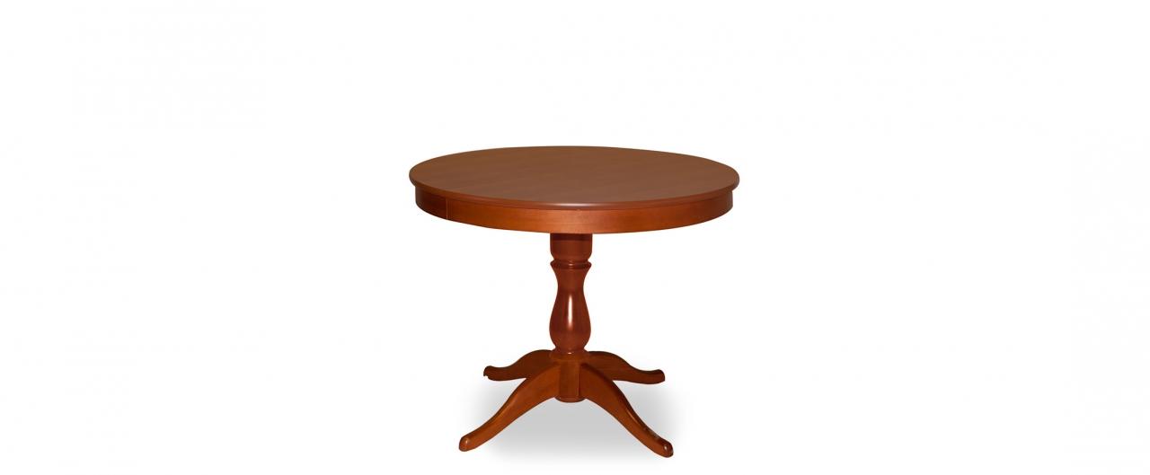 Стол Фламинго 1 Вишня Модель 370Ножки стола из массива дерева, столешница из шпона МДФ. Не образует трещин, идеально сохраняет компактную круглую форму. Гарантия 18 месяцев. Доставка от 1 дня.<br>
