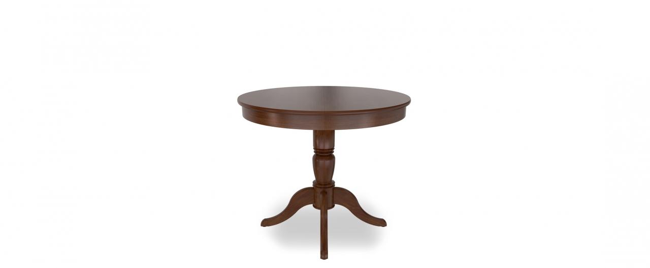 Стол Фламинго 1 Темный орех Модель 370Ножки стола из массива дерева, столешница из шпона МДФ. Не образует трещин, идеально сохраняет компактную круглую форму. Гарантия 18 месяцев. Доставка от 1 дня.<br>