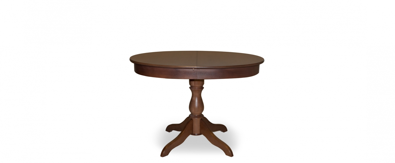 Стол Фламинго 6 Американский орех Модель 370Ножки стола из массива дерева, столешница из шпона МДФ. Не образует трещин, идеально сохраняет компактную круглую форму. Гарантия 18 месяцев. Доставка от 1 дня.<br>