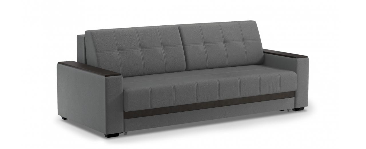 Диван прямой еврокнижка Атланта 066Гостевой вариант и полноценное спальное место. Размеры 241х108х91 см. Купить серый диван еврокнижка в интернет-магазине MOON TRADE.<br>