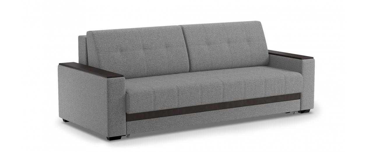 Диван прямой еврокнижка Атланта 066Гостевой вариант и полноценное спальное место. Размеры 241х108х91 см. Купить светло-серый диван еврокнижка в интернет-магазине MOON TRADE.<br>