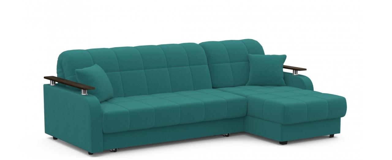 Диван угловой Модель 044Диван угловой Модель 044 арт. 001041 - Велюр (Зеленый, угол правый)<br>