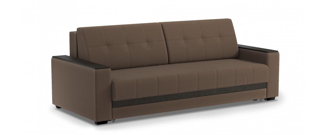 Диван прямой еврокнижка Атланта Next 066Гостевой вариант и полноценное спальное место. Размеры 241х108х91 см. Купить коричневый диван еврокнижка в интернет-магазине MOON TRADE.<br>