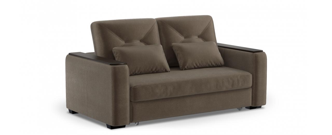 Диван прямой высоковыкатной Брюссель 082Диваны прямые<br>Гостевой вариант и полноценное спальное место. Размеры 184х110х93 см. Купить коричневый диван высоковыкатной в интернет-магазине MOON TRADE.<br>