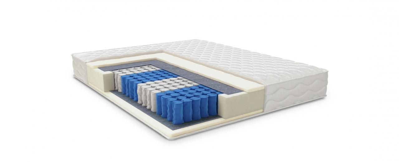Матрас Comfort Rest 404Матрас средней жёсткости. Поддерживает тело во время сна, учитывая его анатомические особенности. Размеры 90x190 см. Купить в интернет-магазине MOON TRADE.<br>