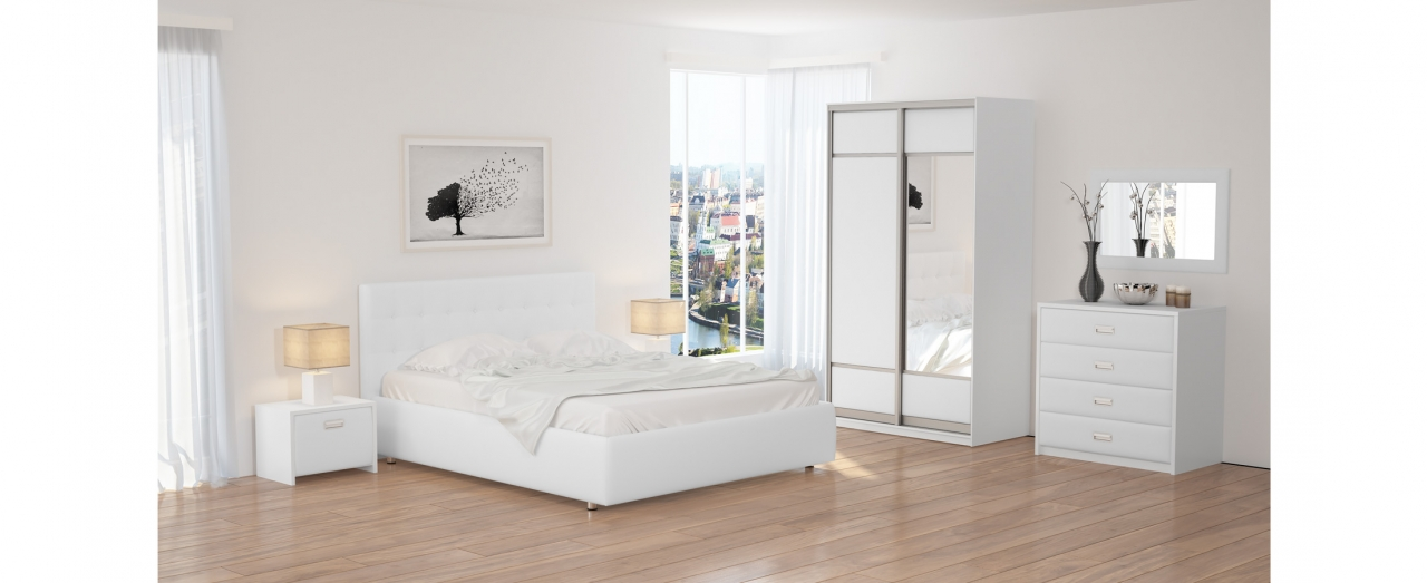 Кровать полутороспальная Como 1 Модель 285Изголовье украшено стразами и декоративными пуговицами. Два варианта ткани на выбор. Купить полутороспальную кровать размером 140х200 см в интернет-магазине MOON TRADE.<br>