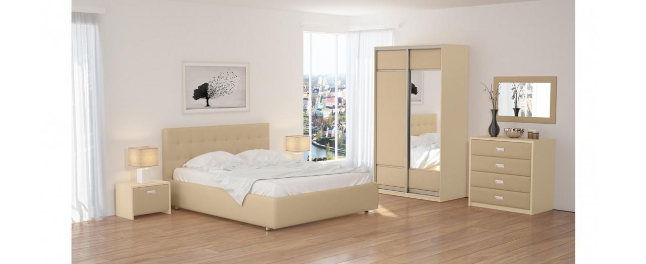 Кровать односпальная Veda 1 Модель 281Изящная кровать, украшенная декоративными пуговицами. Каркас из ДСП. Два варианта обивки на выбор. Спальное место 80х200 см. Гарантия 18 месяцев. Доставка от 1 дня.<br>