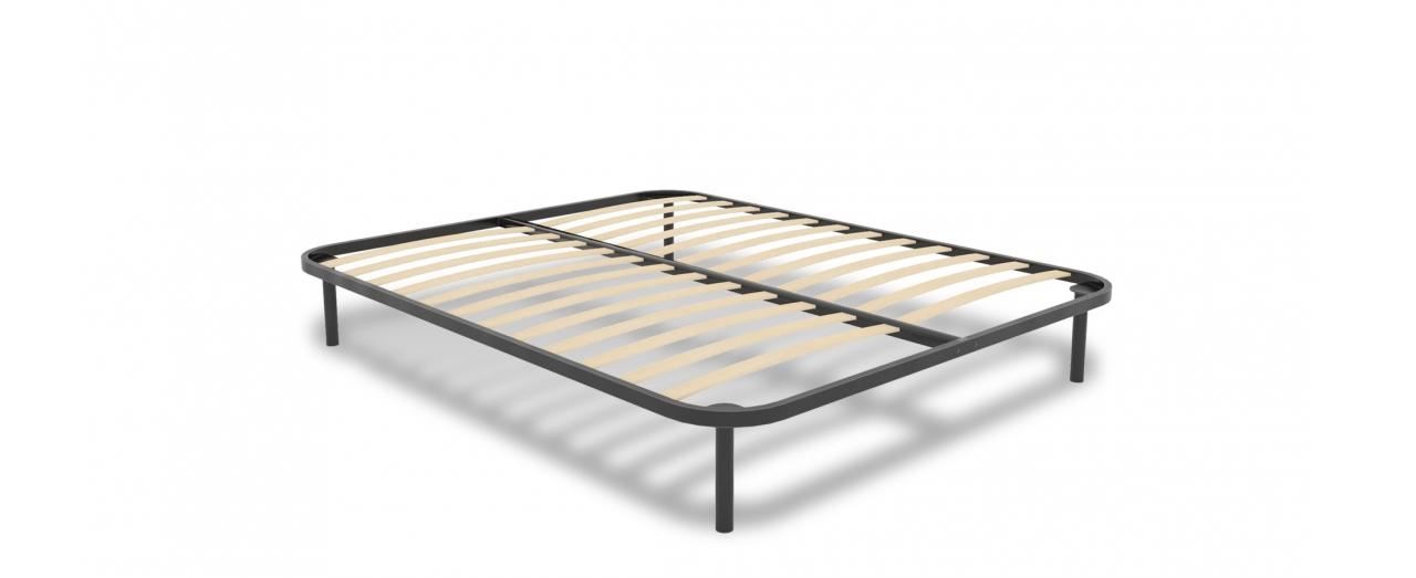 Основание кровати Модель 258Ортопедическое основание кровати из цельносваренной стальной решётки. Металлические ножки высотой 18 см. Нагрузка до 150 кг. Доставка от 1 дня. Гарантия 18 месяцев.<br>