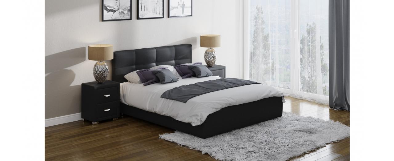 Кровать полутороспальная Life 1 Box Модель 280Современная кровать в лаконичном стиле. Изготовлена из ДСП. На выбор два варианта обивки. Спальное место 140х200 см. Гарантия 18 месяцев. Доставка от 1 дня. Артикул: К000210.<br>