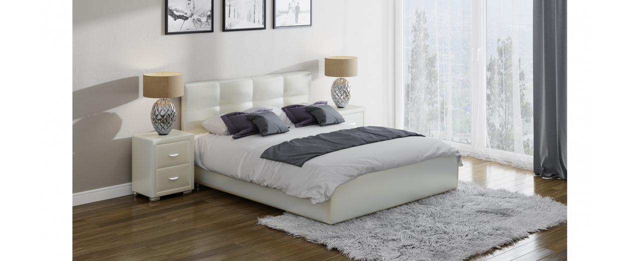 Кровать двуспальная Life 1 Box Модель 280Современная кровать в лаконичном стиле. Изготовлена из ДСП. На выбор два варианта обивки. Спальное место 160х200 см. Гарантия 18 месяцев. Доставка от 1 дня.<br>
