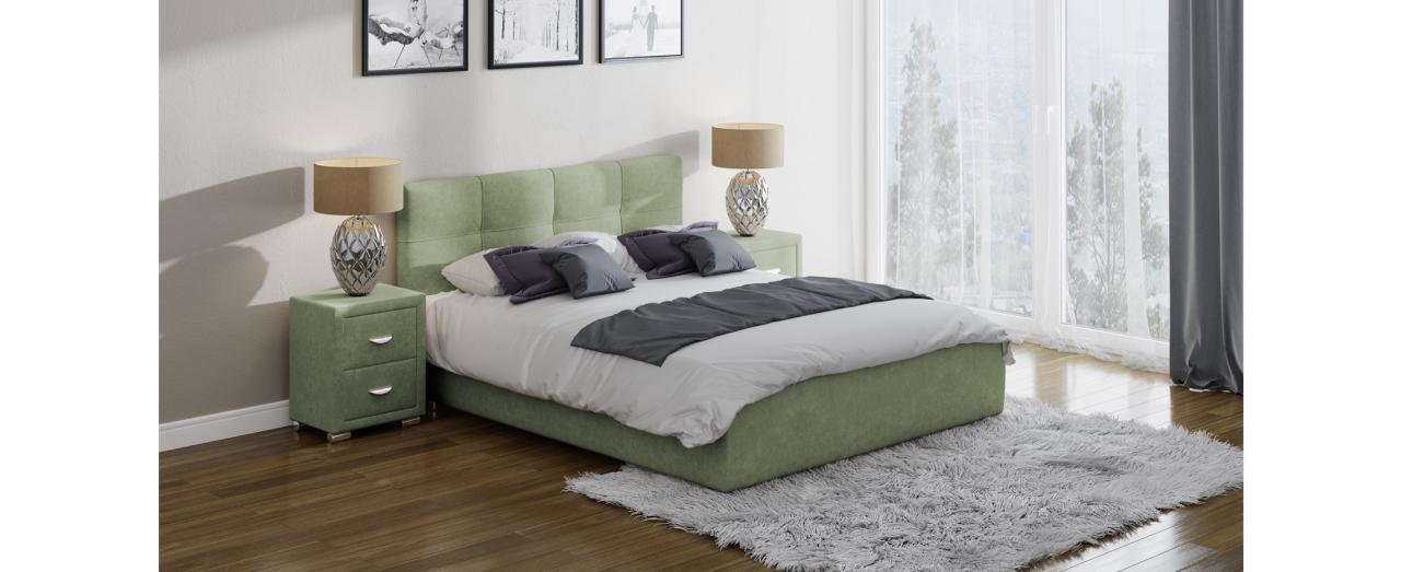 Кровать полутороспальная Life 1 Box Модель 280Современная кровать в лаконичном стиле. Изготовлена из ДСП. На выбор два варианта обивки. Спальное место 140х200 см. Гарантия 18 месяцев. Доставка от 1 дня. Артикул: К000219.<br>