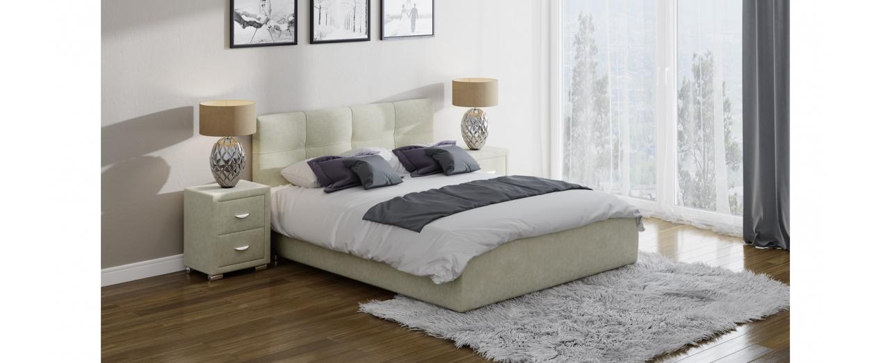 Кровать полутороспальная Life 1 Box Модель 280Современная кровать в лаконичном стиле. Изготовлена из ДСП. На выбор два варианта обивки. Спальное место 140х200 см. Гарантия 18 месяцев. Доставка от 1 дня.<br>