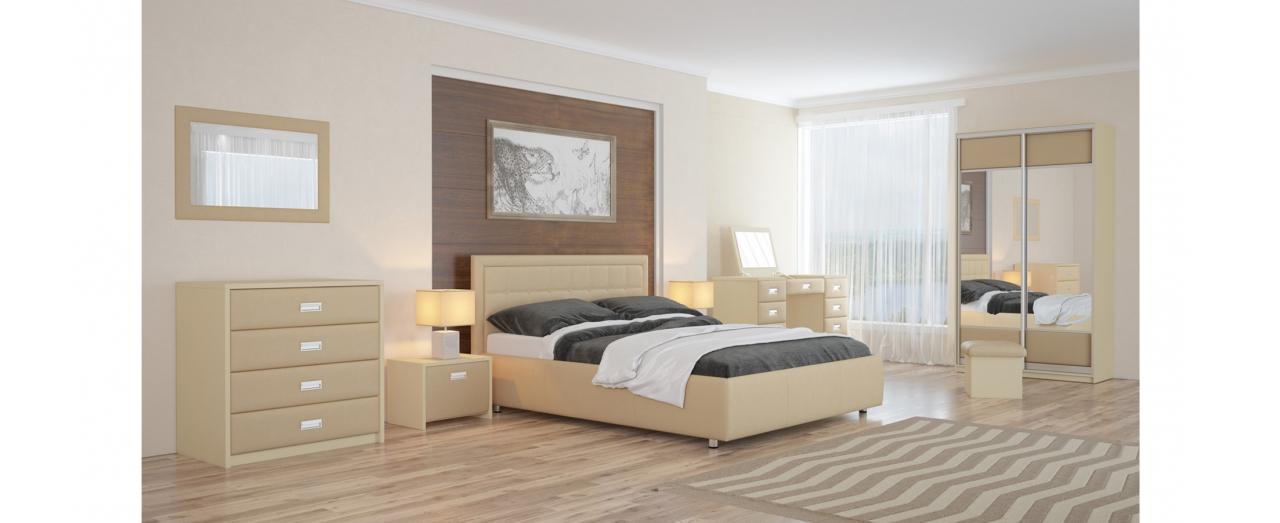 Кровать двуспальная Veda 2 Модель 283Два варианта обивки. Изголовье украшено пуговицами или стразами. Берёзовые ламели усиливают ортопедический эффект. Спальное место 160х200 см. Доставка от 1 дня.<br>