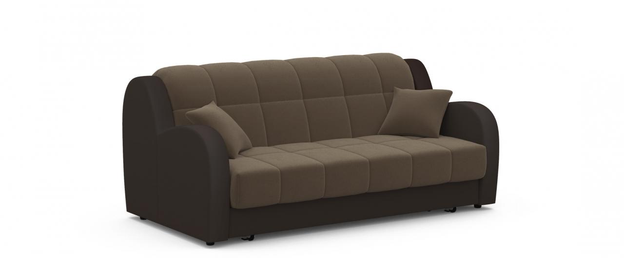 Диван прямой аккордеон Барон 022Гостевой вариант и полноценное спальное место. Размеры 188х104х88 см. Купить коричневый диван аккордеон в интернет-магазине MOON TRADE.<br>