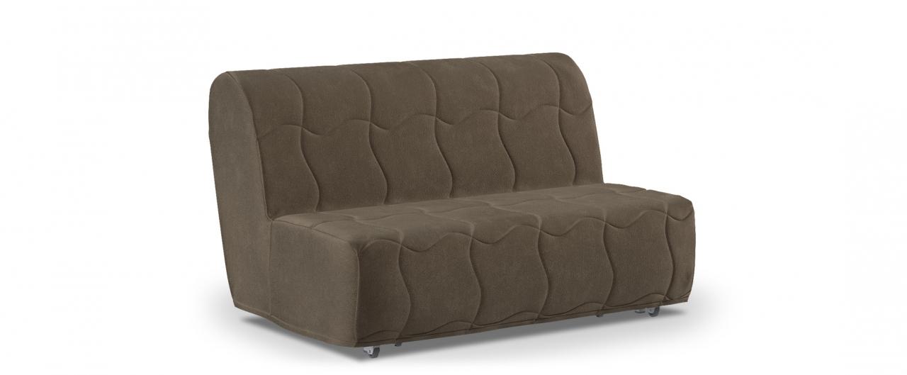 Диван прямой аккордеон Сити 023Гостевой вариант и полноценное спальное место. Размеры 146х107х91 см. Купить коричневый диван аккордеон в интернет-магазине MOON TRADE.<br>