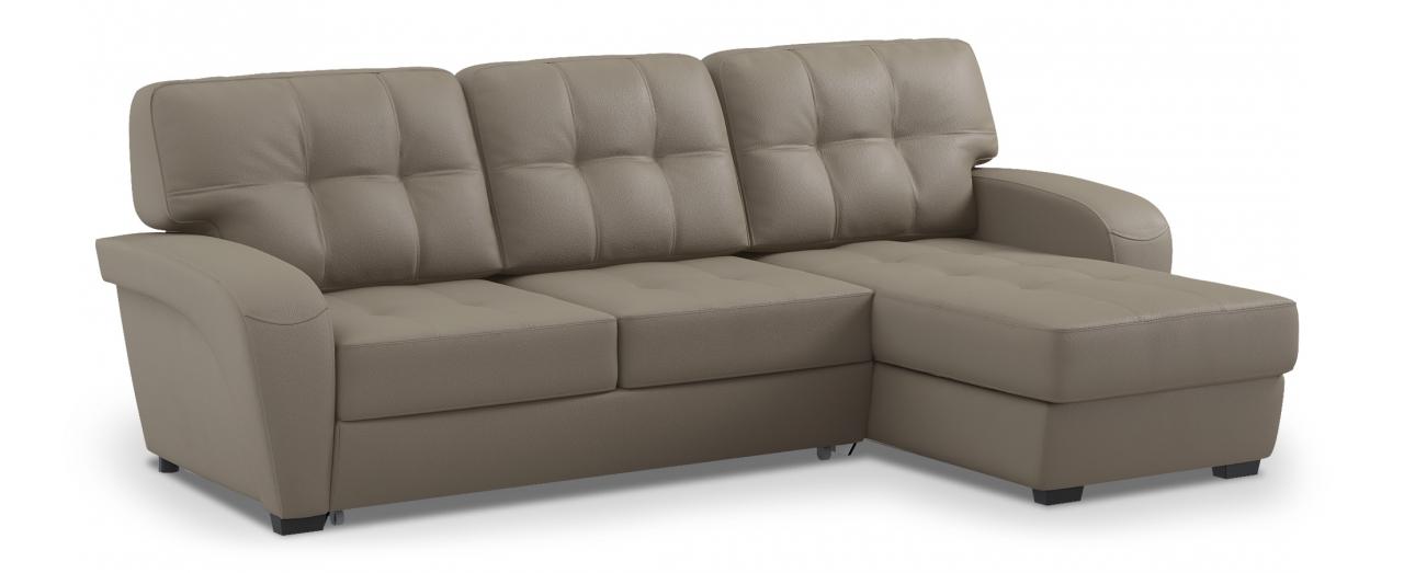 Диван угловой Честер 106Гостевой вариант и полноценное спальное место. Размеры 254х161х95 см. Купить серый диван дельфин с универсальным углом в интернет-магазине MOON TRADE.<br>