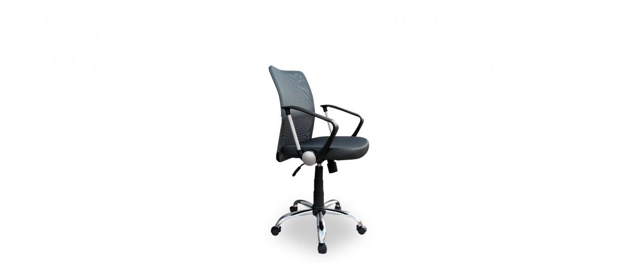 Кресло офисное Трикс Т-502 Модель 376Механизм подъёма и опускания: газ-лифт. Крестовина из хромированного металла. Максимальная нагрузка 120 кг. Доставка от 1 дня. Купить серое кресло в интернет-магазине MOON TRADE.<br>