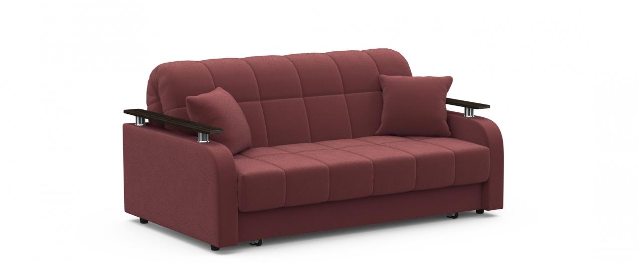 Диван прямой аккордеон Карина 044Гостевой вариант и полноценное спальное место. Размеры 170х104х88 см. Купить красно-коричневый диван аккордеон в интернет-магазине MOON-TRADE.RU.<br>