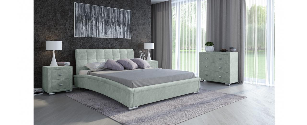 Кровать полутороспальная Corso 1 Модель 287Элегантная кровать в современном стиле. Сделает неповторимым интерьер любой спальни. Спальное место 140х200 см. Гарантия 18 месяцев. Доставка от 1 дня.<br>