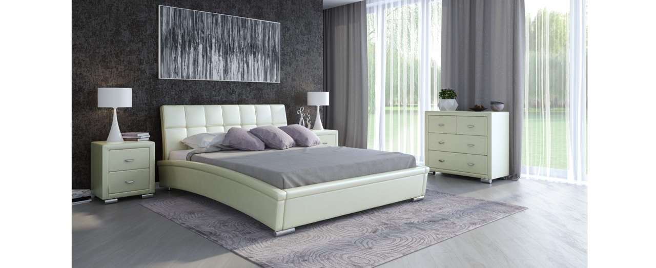 Кровать двуспальная Corso 1 Модель 287Элегантная кровать в современном стиле. Сделает неповторимым интерьер любой спальни. Спальное место 160х200 см. Гарантия 18 месяцев. Доставка от 1 дня.<br>