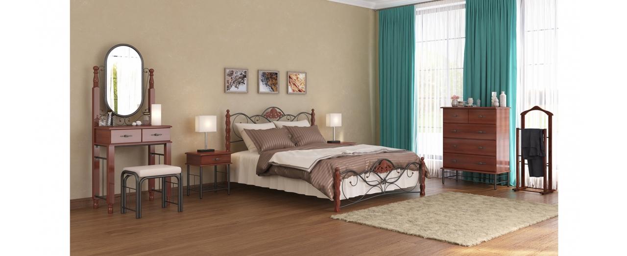 Кровать полутороспальная Garda 2 R Модель 282Модель из прочной и экологичной древесины берёзы. Устойчива к повреждениям и царапинам. Не впитывает запахи и влагу. Спальное место 140х200 см. Доставка от 1 дня.<br>