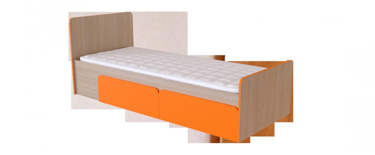 Кровать односпальная Скейт-3 Модель 505Просторна за счёт особенностей конструкции и отсутствия боковых стенок. Цвета ящиков в двух вариантов. Спальное место 80х200 см. Гарантия 18 месяцев. Доставка от 1 дня.<br>
