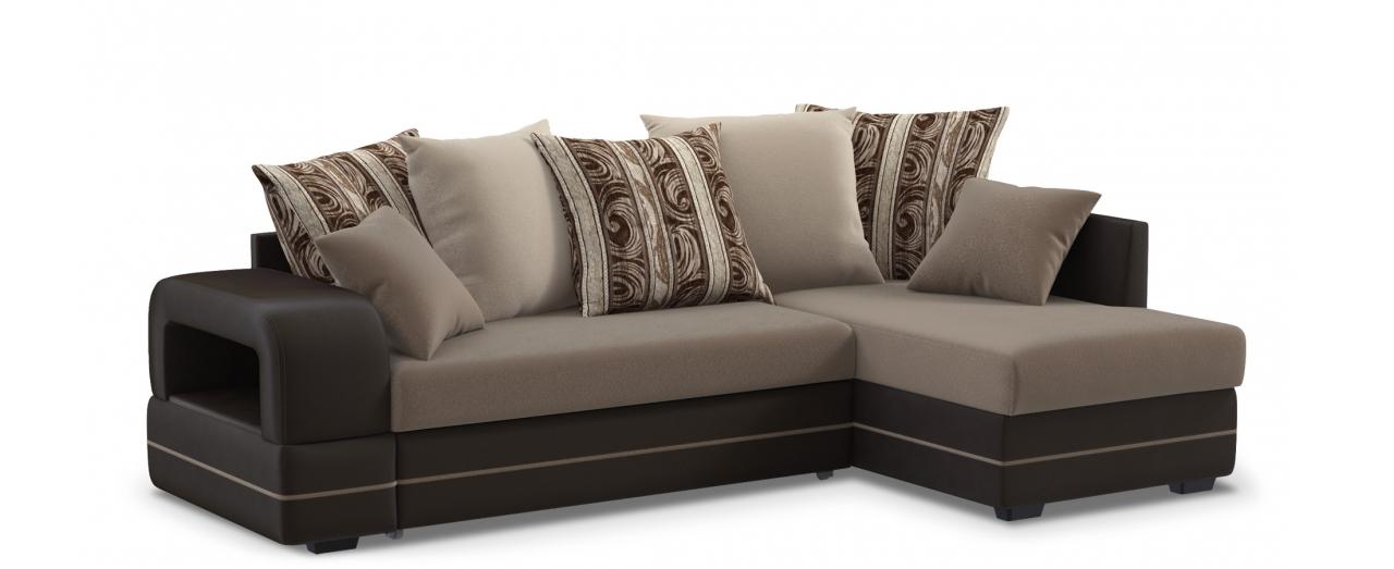 Диван угловой Дубай 030Гостевой вариант и полноценное спальное место. Размеры 243х146х95 см. Купить корчневый диван дельфин в интернет-магазине MOON TRADE.<br>