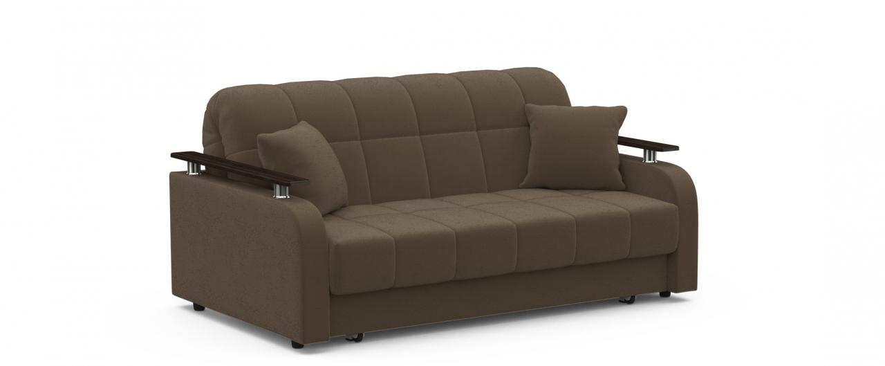 Диван прямой аккордеон Карина 044Гостевой вариант и полноценное спальное место. Размеры 170х104х88 см. Купить коричневый диван аккордеон в интернет-магазине MOON TRADE.<br>