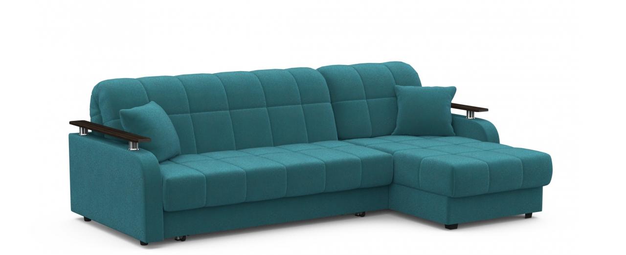 Диван угловой аккордеон Карина 044Гостевой вариант и полноценное спальное место. Размеры 243х161х88 см. Купить зеленый диван аккордеон с универсальным углом в интернет-магазине MOON TRADE.<br>