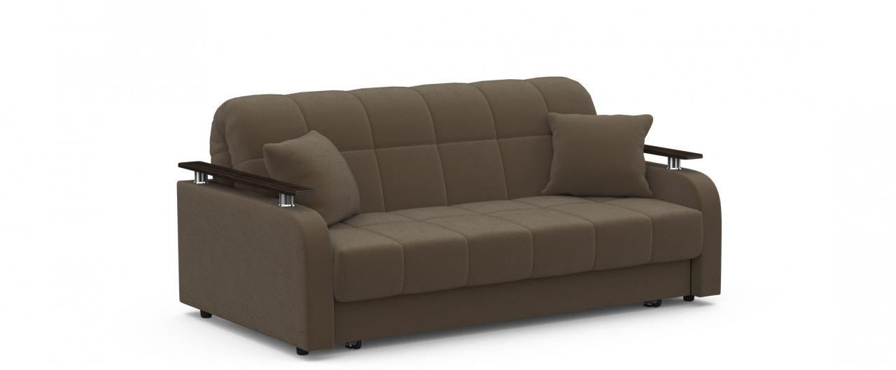 Диван прямой аккордеон Карина 044Гостевой вариант и полноценное спальное место. Размеры 186х104х88 см. Купить коричневый диван аккордеон в интернет-магазине MOON TRADE.<br>