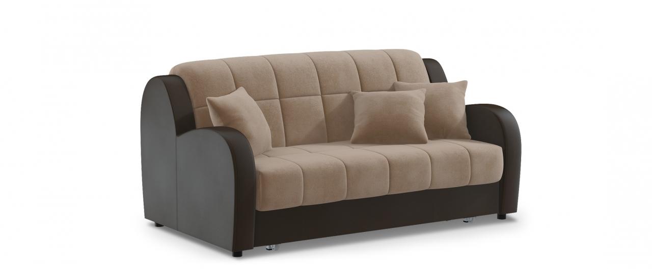 Диван прямой аккордеон Барон 022Диваны прямые<br>Гостевой вариант и полноценное спальное место. Размеры 188х104х88 см. Купить светло-коричневый диван аккордеон в интернет-магазине MOON TRADE.<br>