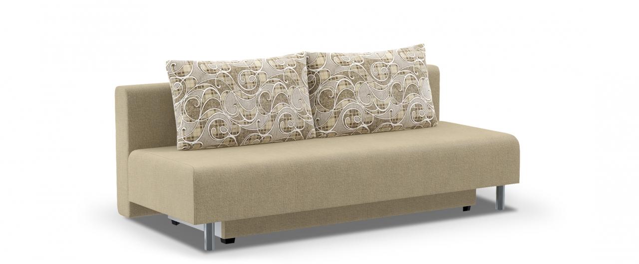 Диван прямой Модель 049Диваны прямые<br>Гостевой вариант и полноценное спальное место. Размеры 205х88х87 см. Купить бежевый диван еврокнижка в интернет-магазине MOON TRADE.<br>