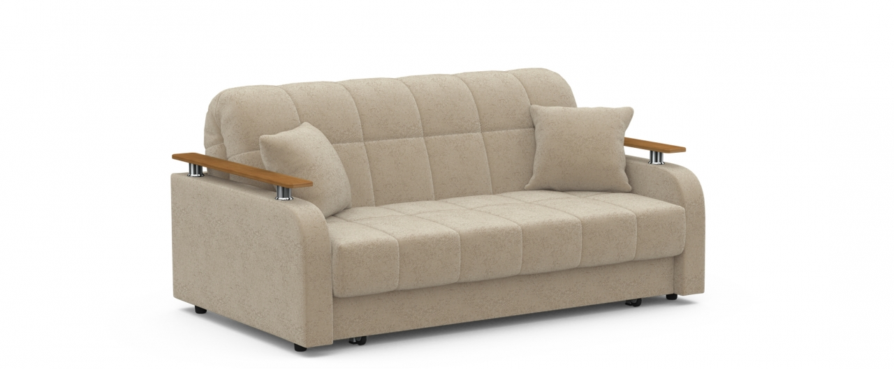 Диван прямой аккордеон Карина 044Гостевой вариант и полноценное спальное место. Размеры 170х104х88 см. Купить бежевый диван аккордеон с декором дуб в интернет-магазине MOON TRADE.<br>