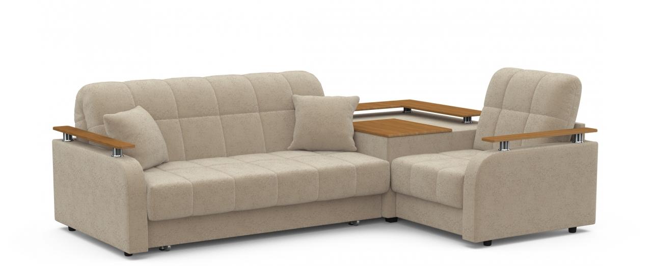 Диван угловой аккордеон Карина 044Гостевой вариант и полноценное спальное место. Размеры 250х179х88 см. Купить бежевый диван аккордеон с правым углом и декором дуб в интернет-магазине MOON TRADE.<br>