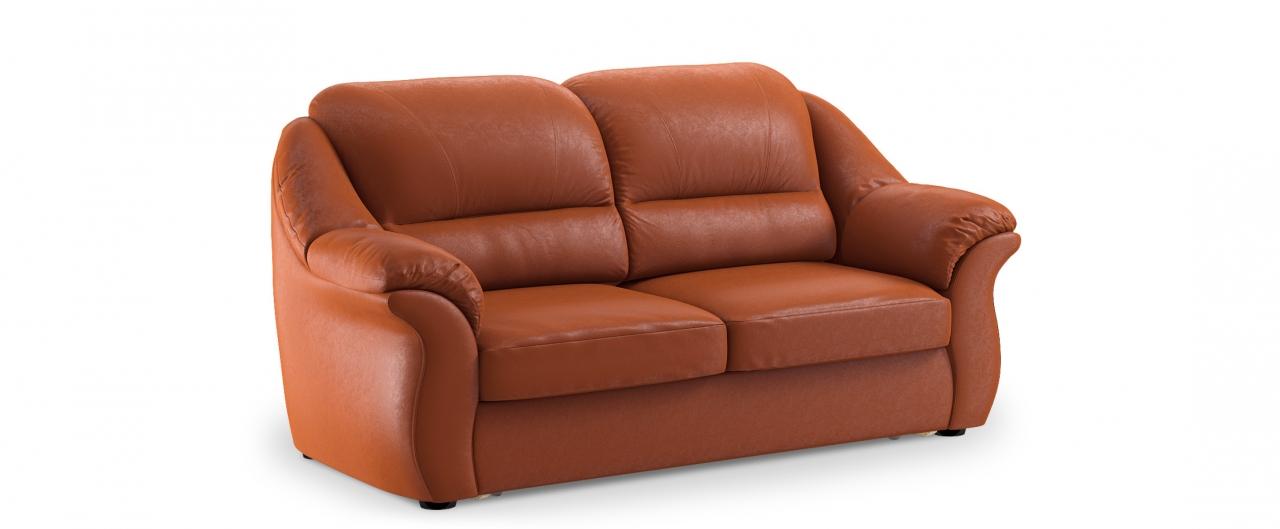 Диван прямой Бостон 017Гостевой вариант и полноценное спальное место. Размеры 202х92х99 см. Купить оранжевый диван высоковыкатной в интернет-магазине MOON TRADE.<br>