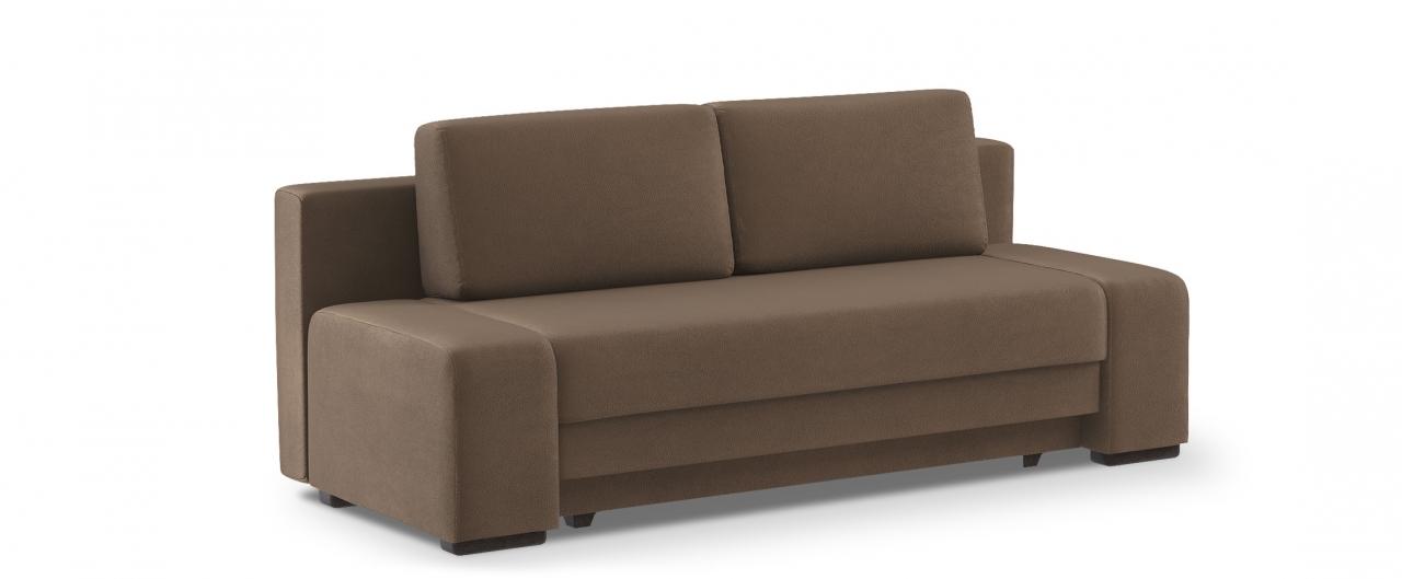Диван прямой еврокнижка Токио 009Гостевой вариант и полноценное спальное место. Размеры 205х93х89 см. Купить коричневый диван еврокнижка в интернет-магазине MOON TRADE.<br>