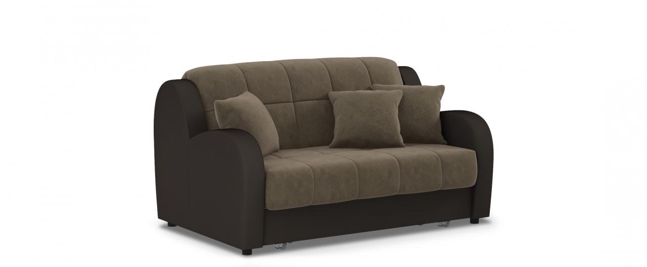 Диван прямой аккордеон Барон 022Гостевой вариант и полноценное спальное место. Размеры 153х104х88 см. Купить коричневый диван аккордеон в интернет-магазине MOON TRADE.<br>