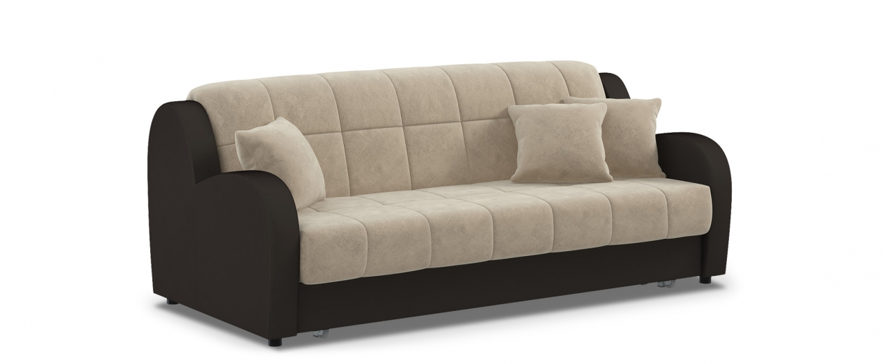 Диван прямой аккордеон Барон 022Гостевой вариант и полноценное спальное место. Размеры 213х104х88 см. Купить бежевый диван аккордеон в интернет-магазине MOON TRADE.<br>