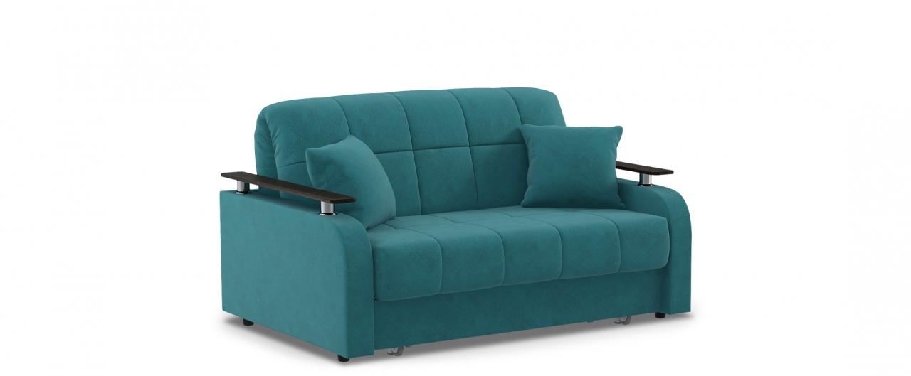 Диван прямой аккордеон Карина 044Гостевой вариант и полноценное спальное место. Размеры 150х104х88 см. Купить зеленый диван аккордеон с декором венге в интернет-магазине MOON TRADE.<br>