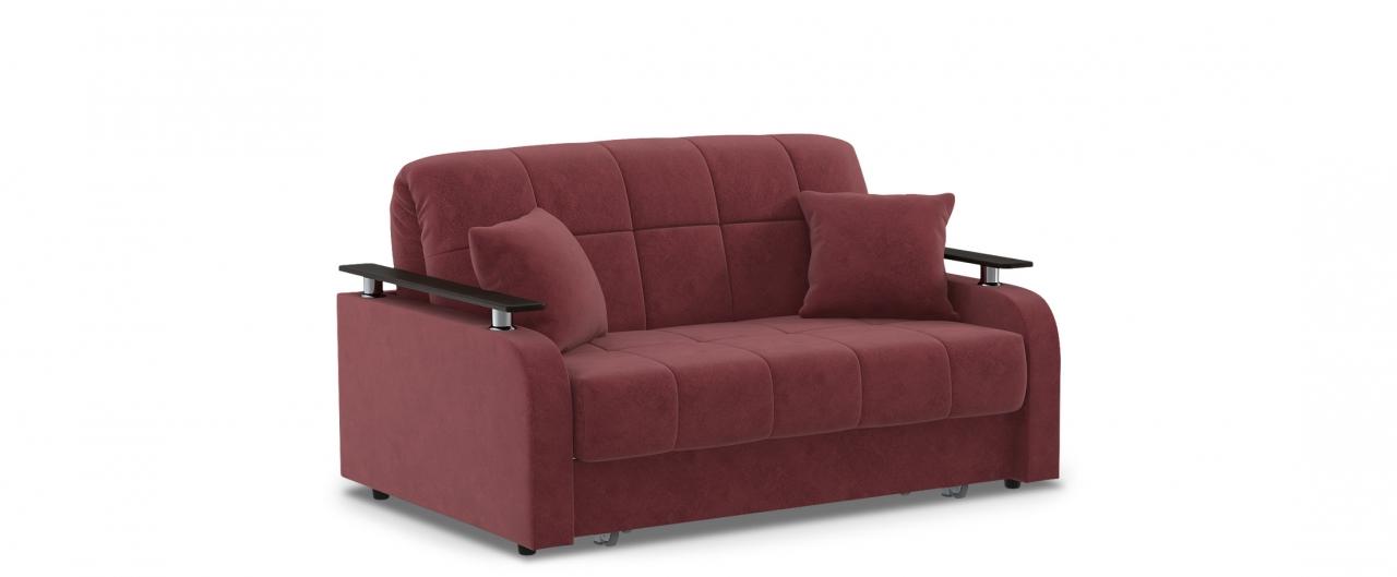 Диван прямой аккордеон Карина 044Гостевой вариант и полноценное спальное место. Размеры 150х104х88 см. Купить бордовый диван аккордеон с декором венге в интернет-магазине MOON TRADE.<br>