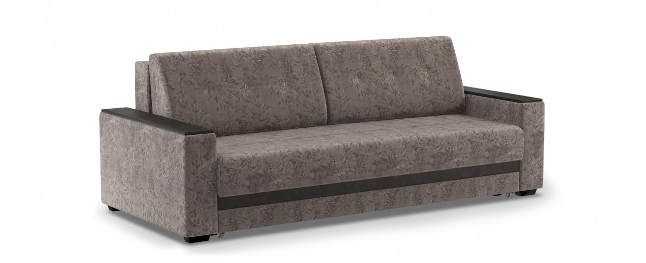 Диван прямой еврокнижка Атланта 066Гостевой вариант и полноценное спальное место. Размеры 241х108х91 см. Купить серо-коричневый диван еврокнижка в интернет-магазине MOON TRADE.<br>