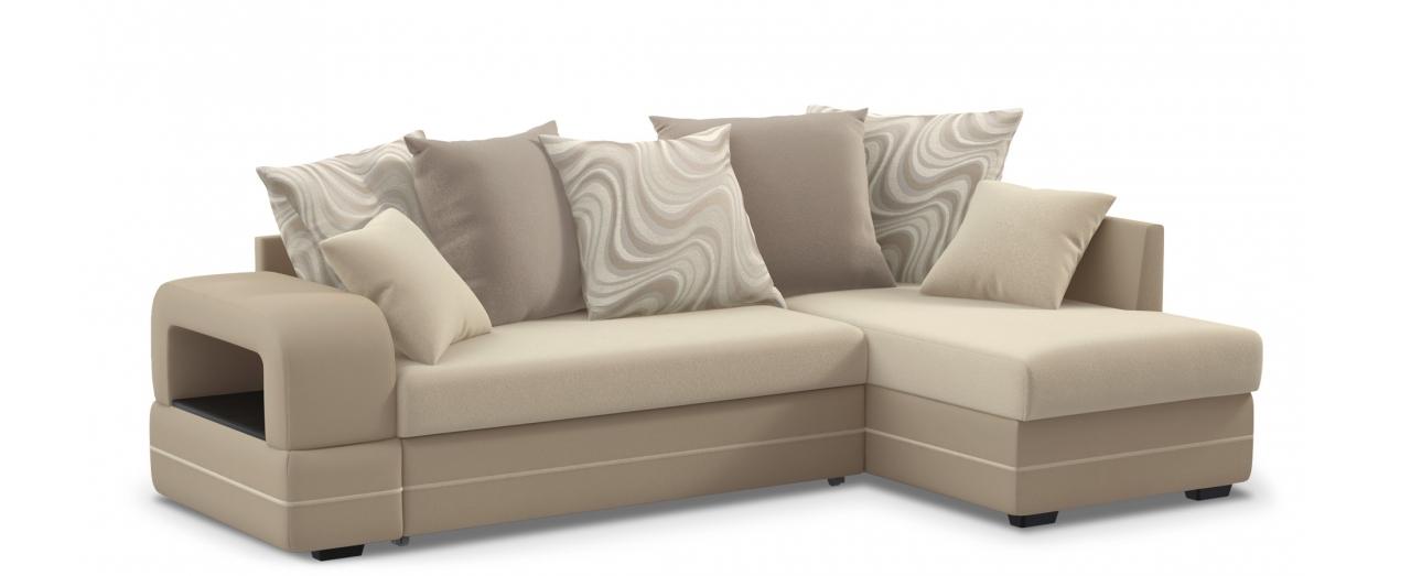 Диван угловой дельфин Дубай 030Гостевой вариант и полноценное спальное место. Размеры 243х146х95 см. Купить бежевый диван дельфин в интернет-магазине MOON TRADE.<br>
