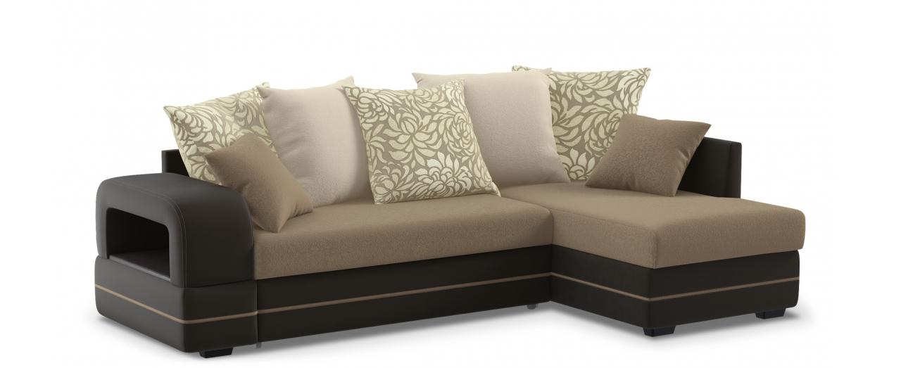 Диван угловой Дубай 030Гостевой вариант и полноценное спальное место. Размеры 243х146х95 см. Купить бежевый диван дельфин в интернет-магазине MOON TRADE.<br>